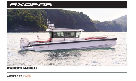 Owner`s manual Axopar 28 Cabin 2018