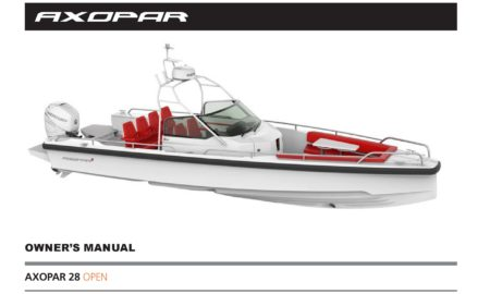 Owner`s manual Axopar 28 Open 2018