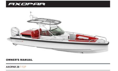 Owner`s manual Axopar 28 T-Top 2018